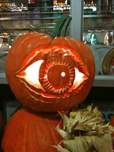 Jack-O'-Lantern with carved eye