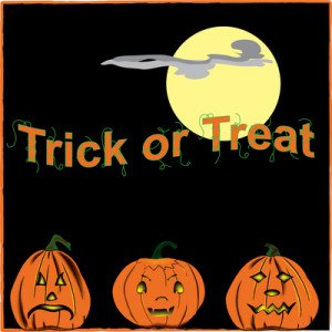 Trickor Treat jack o' lanterns