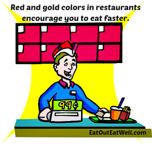 fast food counter graphic