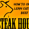 steak house, lean beef