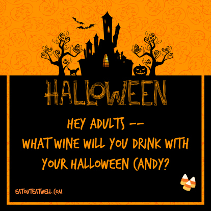 Halloween Candy And Wine